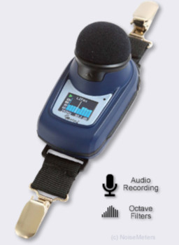 dbadge2 Pro Noise Dosemeter with audio recording and octave band filters